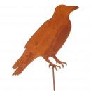 wholesale Decoration: Metal plug raven, H120cm, rust
